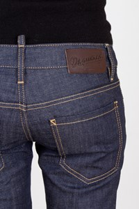 Dsquared2 Blue Low-Rise Jeans with Leg Zippers / Size: 40 - Fit: S